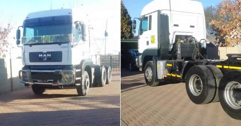 Mzansi, Celebrates, Woman, Truck