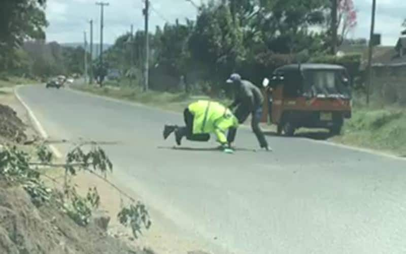 Two tough punishments that await Nakuru man caught on camera clobbering police officers