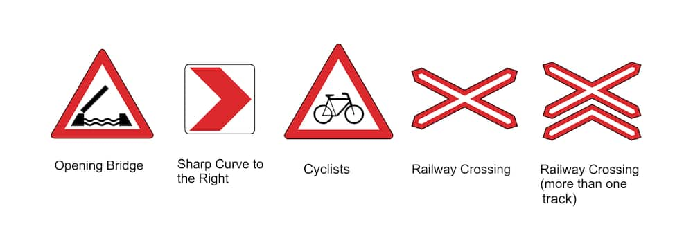 Road signs and meanings