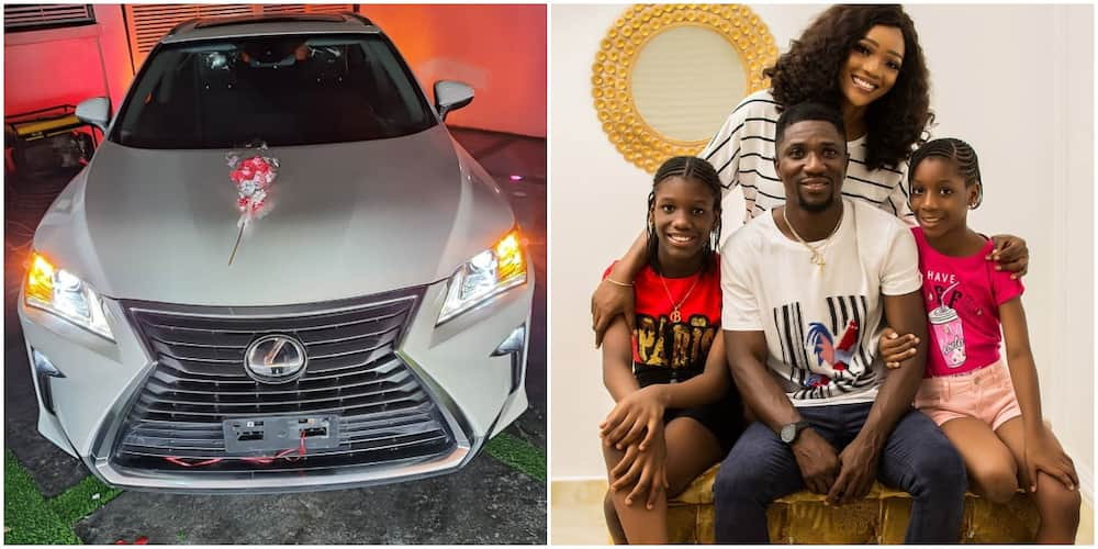 Comedian Ogusbaba gifts wife a brand new Lexus (photo)