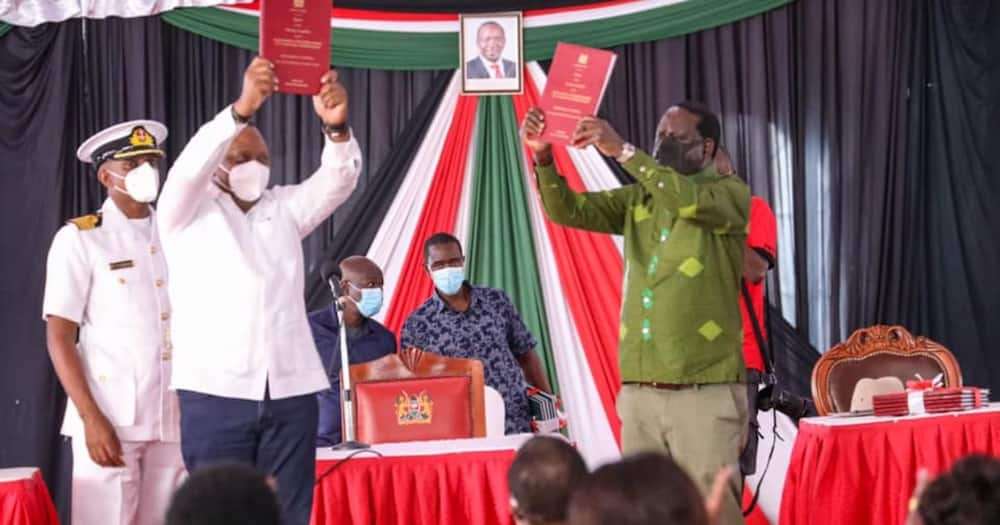 Uhuru Kenyatta, Raila wakutana na viongozi wa Luo Nyanza Kisumu