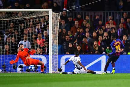 Lucas Moura scores late as Wanyama's Spurs hold Barcelona to qualify for the Champions League last 16