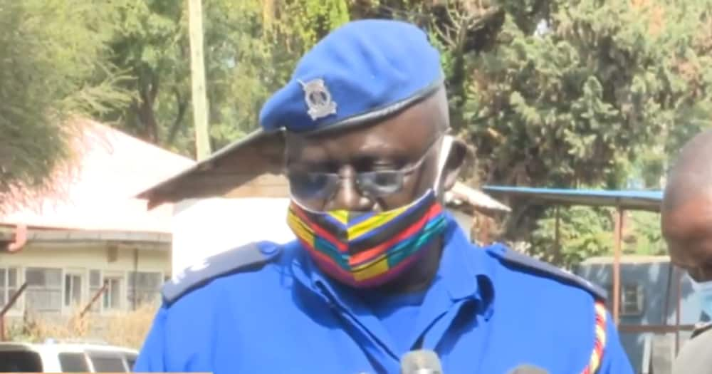 Nakuru East Deputy sub-county Police Commander Phantom Analo. Photo: Screengrab from CitizenTV.