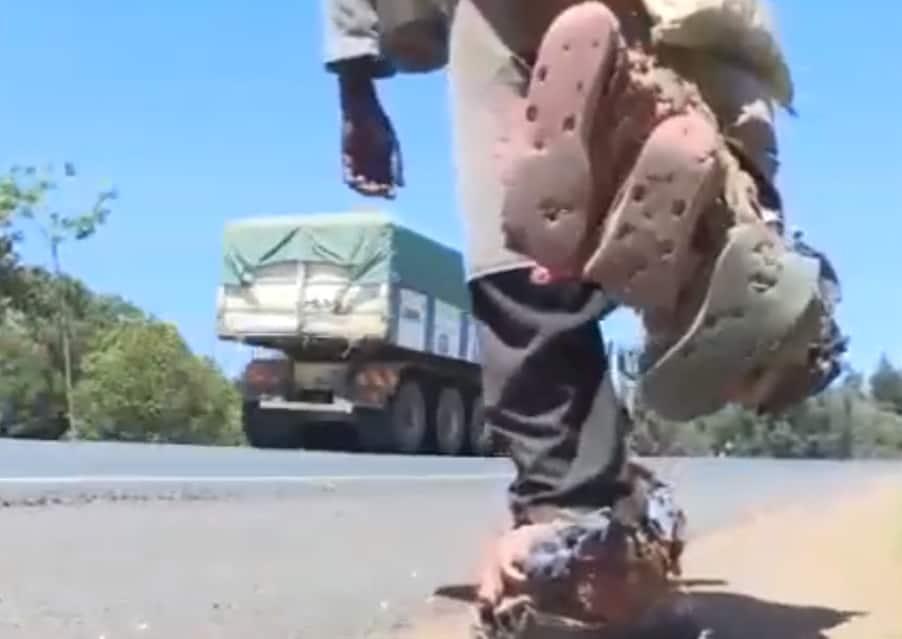 41-year-old- man begins long walk from Kakamega to Nairobi