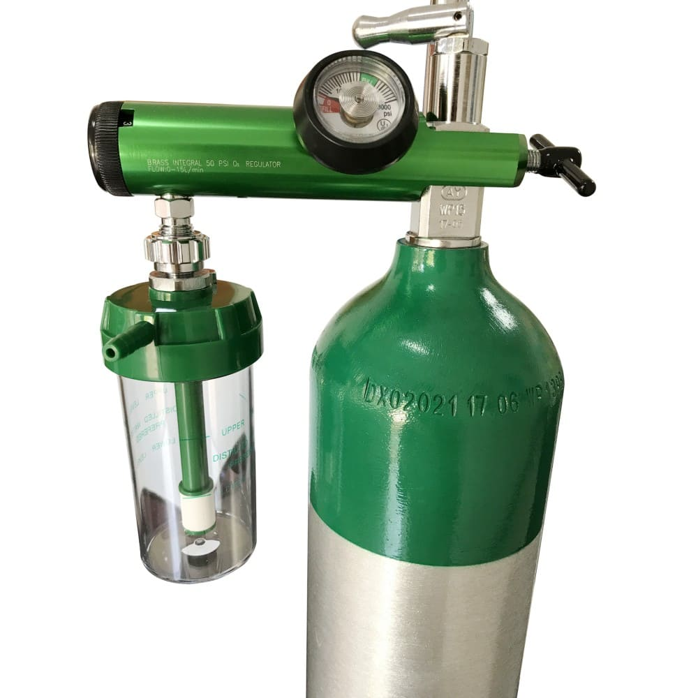 An oxygen cylinder helps ease respiratory distress. Photo: Alibaba