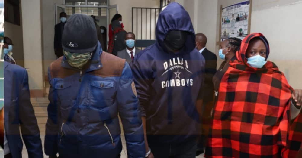 The suspects killer of the Embu brothers. Photo: Nelson Havi.