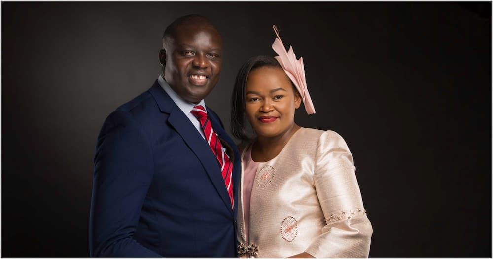 Trade and Enterprise Development CAS David Osiany together with his wife Syombua Osiany. Photo: David Osiany