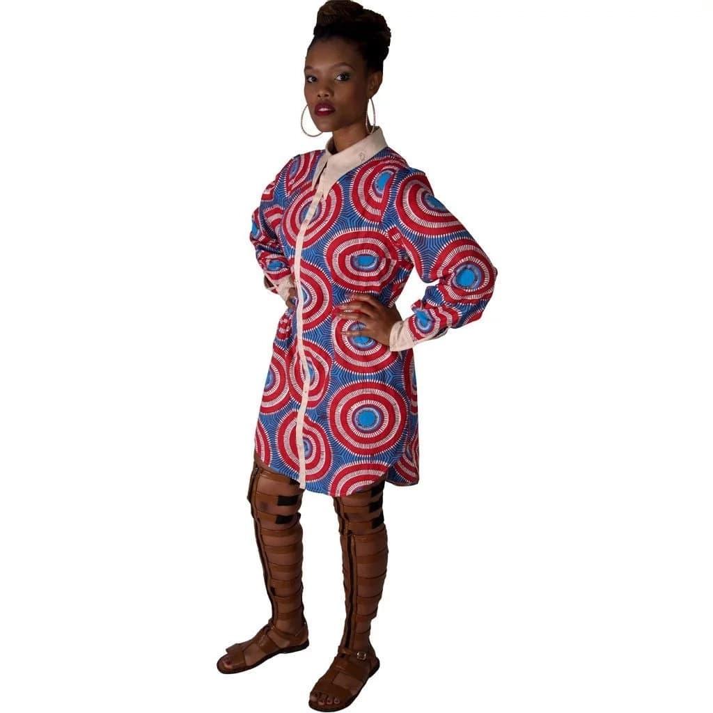 Kitenge short dress designs