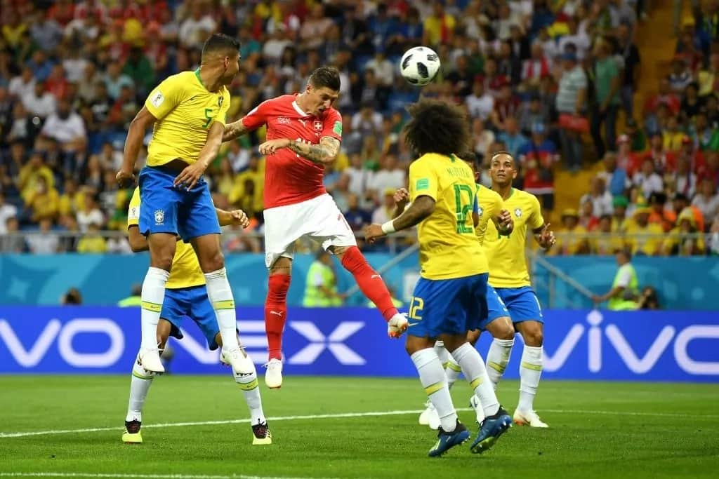 Underdogs Switzerland see off World Cup favourites Brazil in Russia