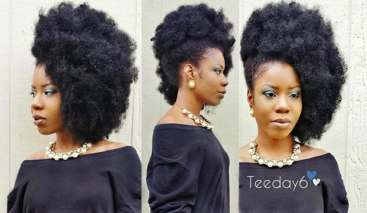 Afro kinky braid hairstyles