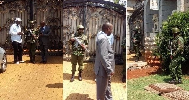 Recce squad officers break into Jimmy Wanjigi's Muthaiga's home