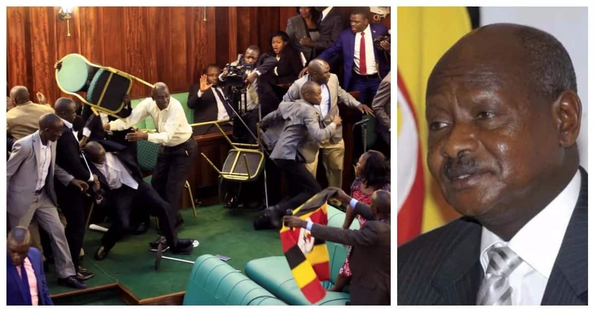 Ugandan lawmaker pelted with stones by angry mob for supporting the contentious age limit Bill