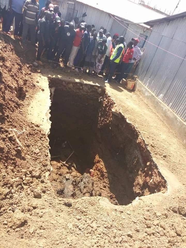 Man buried alive while sinking pit latrine in a Kawangware estate