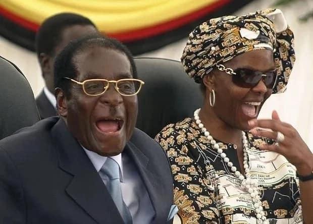Grace Mugabe pictured with President Robert Mugabe. Photo: AP