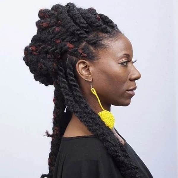 Long kinky twist hairstyles with extensions kinky twist hairstyles kinky twist extension hairstyles flat twist updo with extensions