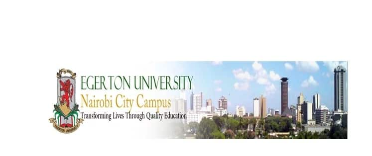 Egerton University Nairobi campus courses offered, fees structure & intakes