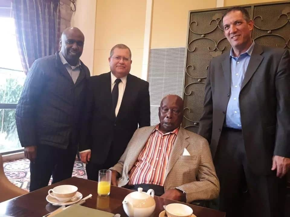 Retired President Daniel Arap Moi was flown to Israel for medical check-up. He was in company of his son Gideon Moi.
