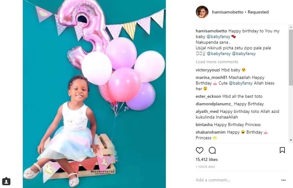 Diamond's mpango wa kando's daughter turns 3 years-old and she looks prettier by the day