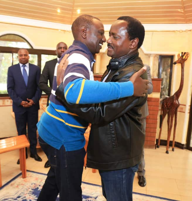 William Ruto Condoles with wiper leader Kalonzo Musyoka after father's death