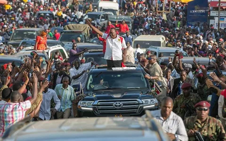 Stop destroying Kenya's economy for your selfish gain, Uhuru tells Raila