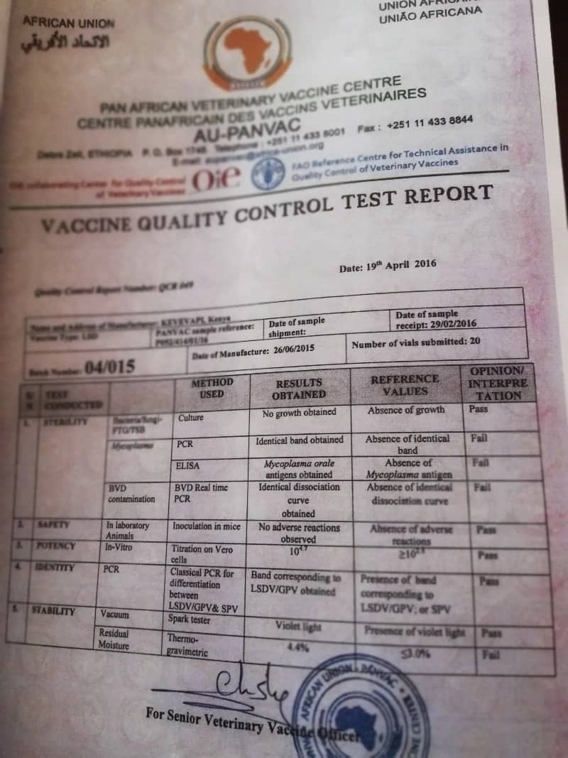 Uhuru was fooled by veterinary institute to launch contaminated vaccine worth KSh 92 million - Report