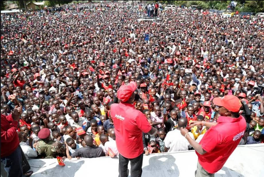 ruto heckled in tiaty