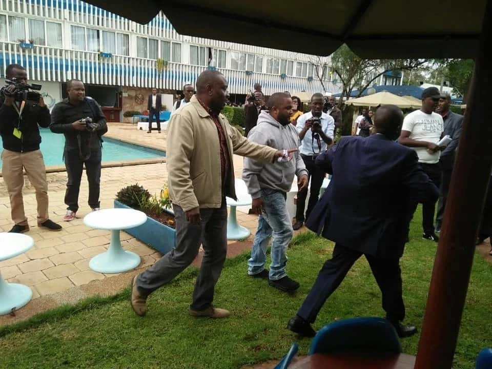 Goons attack Nairobi business leaders while issuing statement on city's poor state