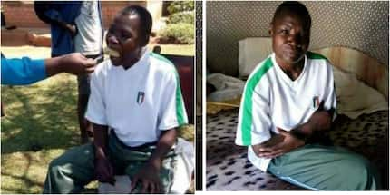 Jubilation as former boxing great Conjestina Achieng walks out of hospital (photos)