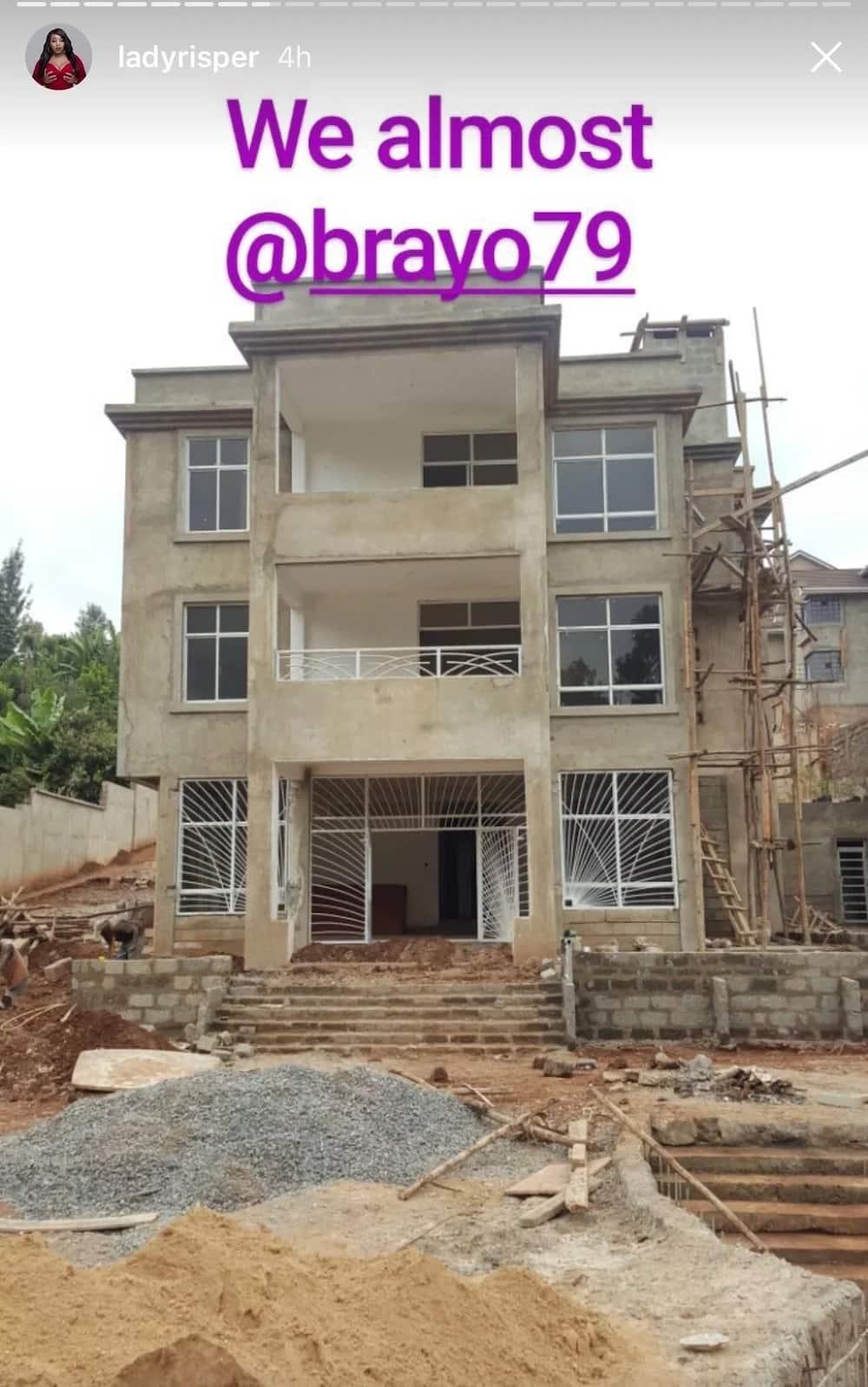 The multi-million mansion that ex-socialite Risper Faith is building with her lover in Kitisuru