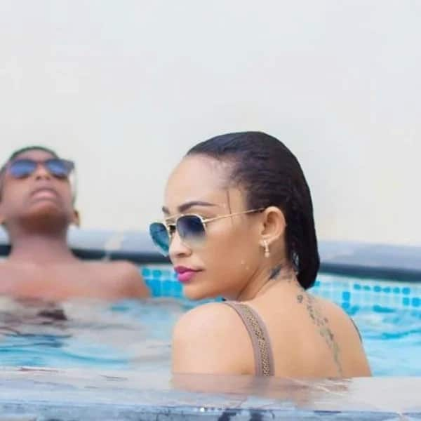 Zari Hassan hits the pool with her sons as they wash away memories of Diamond Platinumz