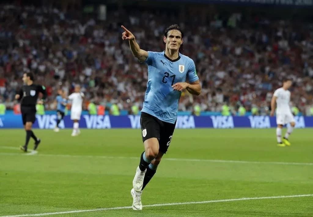 Cavani's brace sends Uruguay through as Ronaldo's Portugal bow out of Russia
