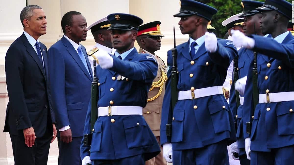 Retired President Barrack Obama during his last visit to Kenya in 2015.