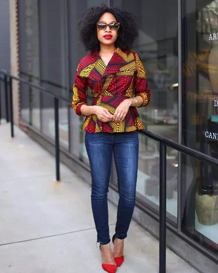 Ankara jacket styles for ladies