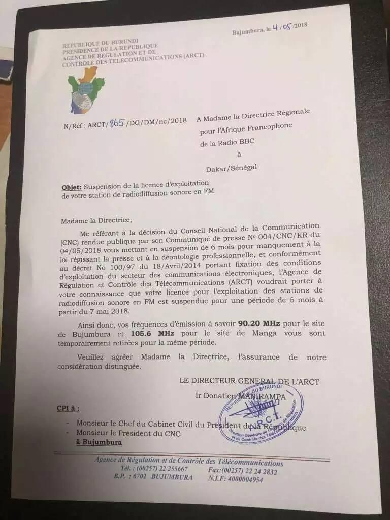 BBC na VOA wafungiwa miezi 6 kurusha matangazo yao Burundi