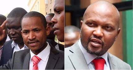 """I dare you Moses Kuria if you are man enough!"" Babu Owino reacts to Raila house arrest threats"