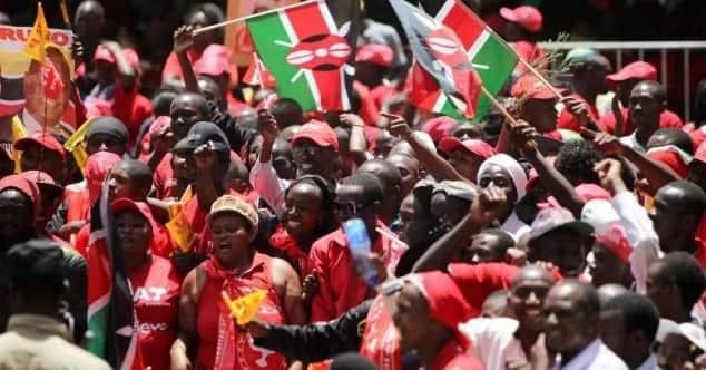 Kenyans at a political rally