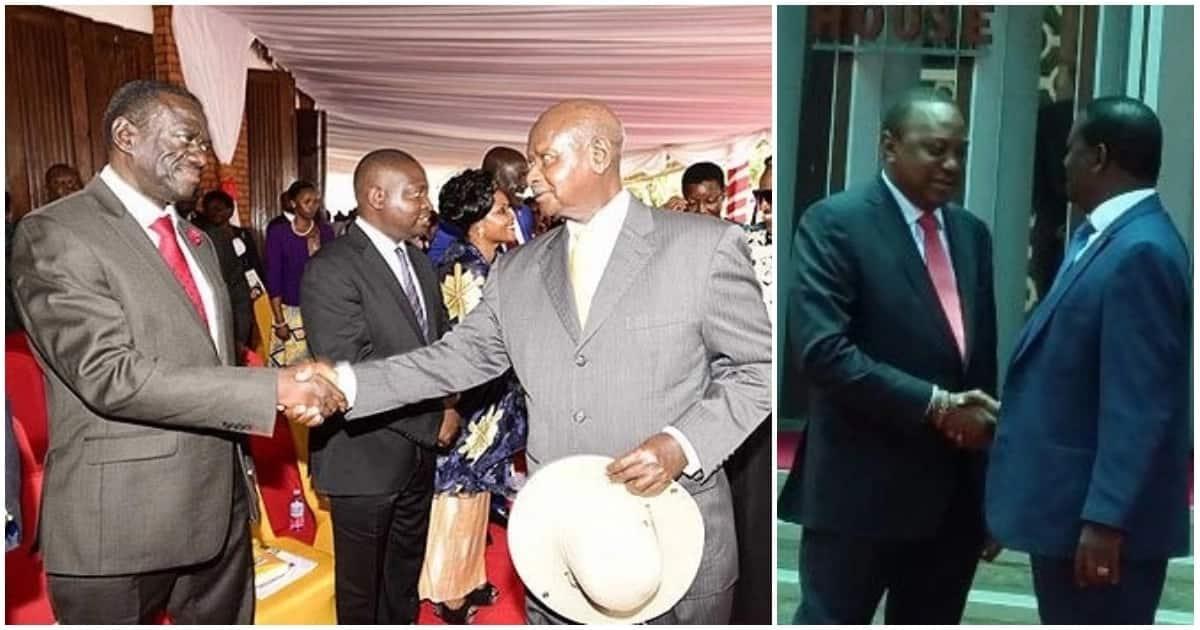 Museveni, Besigye copy Uhuru, Raila handshake and Ugandans can't hide their excitement