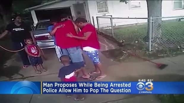 Man, 35, demanded to propose to his girlfriend as he was being arrested