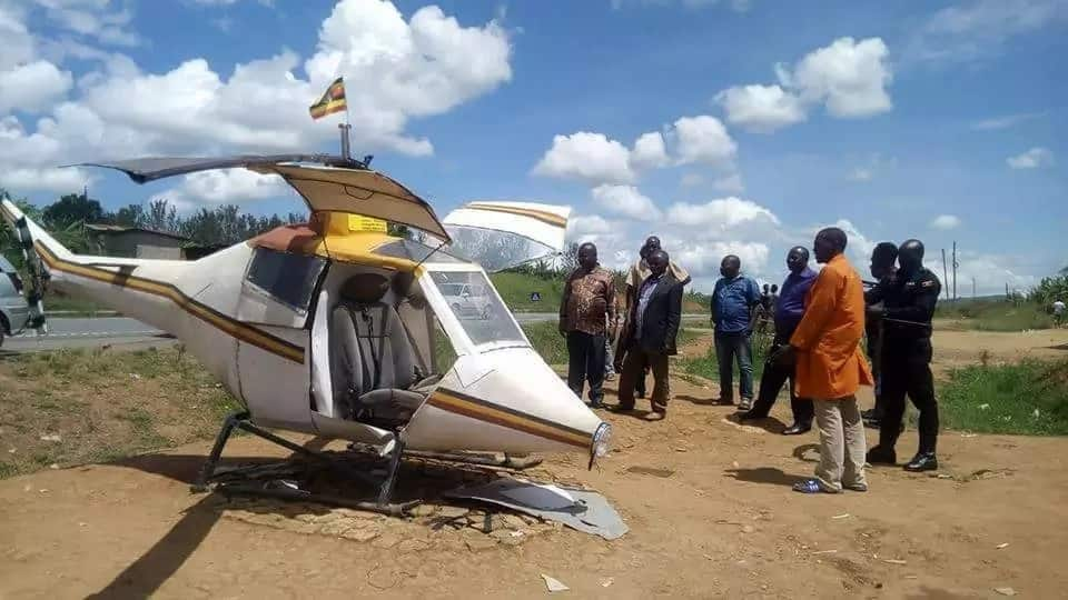 Uganda's first aircraft maker lands in hospital after crashing his plane while testing it