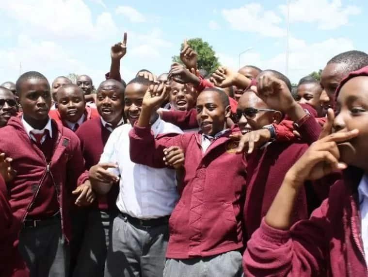 Moi High School Kabarak students