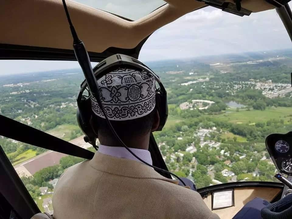 Garissa governor takes chopper ride over US city on benchmarking tour