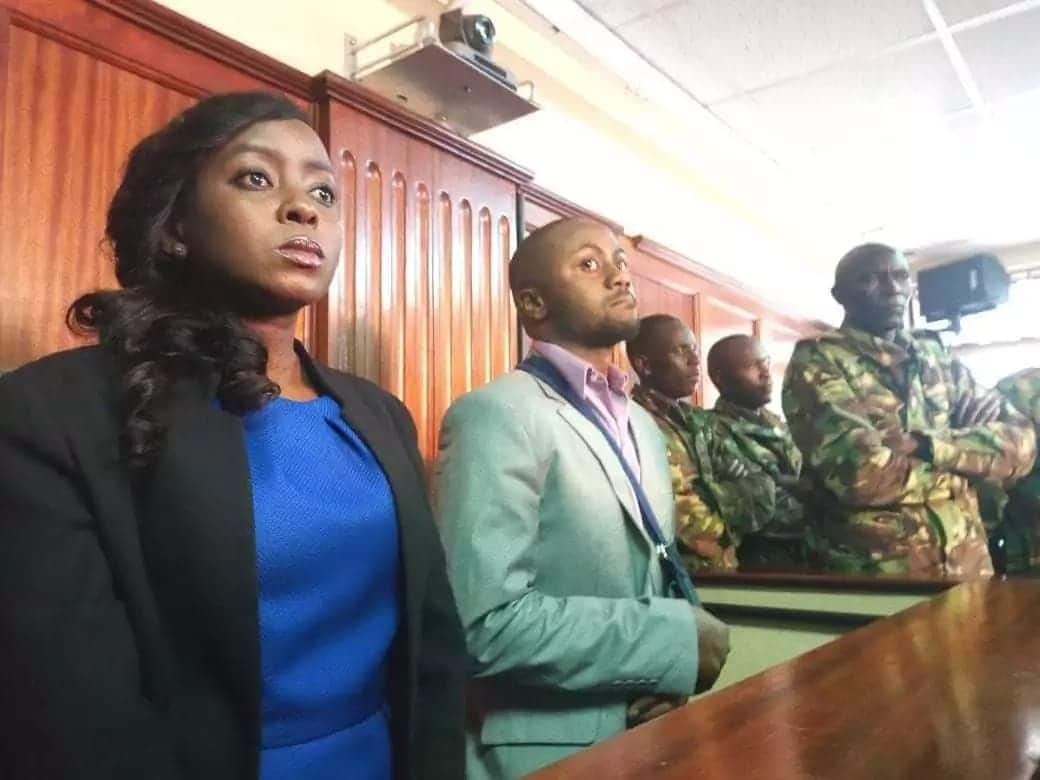 The verdict saw Jaque Maribe (l) released on KSh 2 million bail while Jowie was denied bail.Photo: UGC
