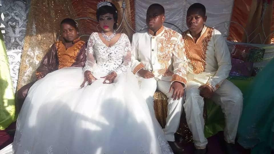 KTN presenter Abuller Ahmed his bride Mariam and family members.