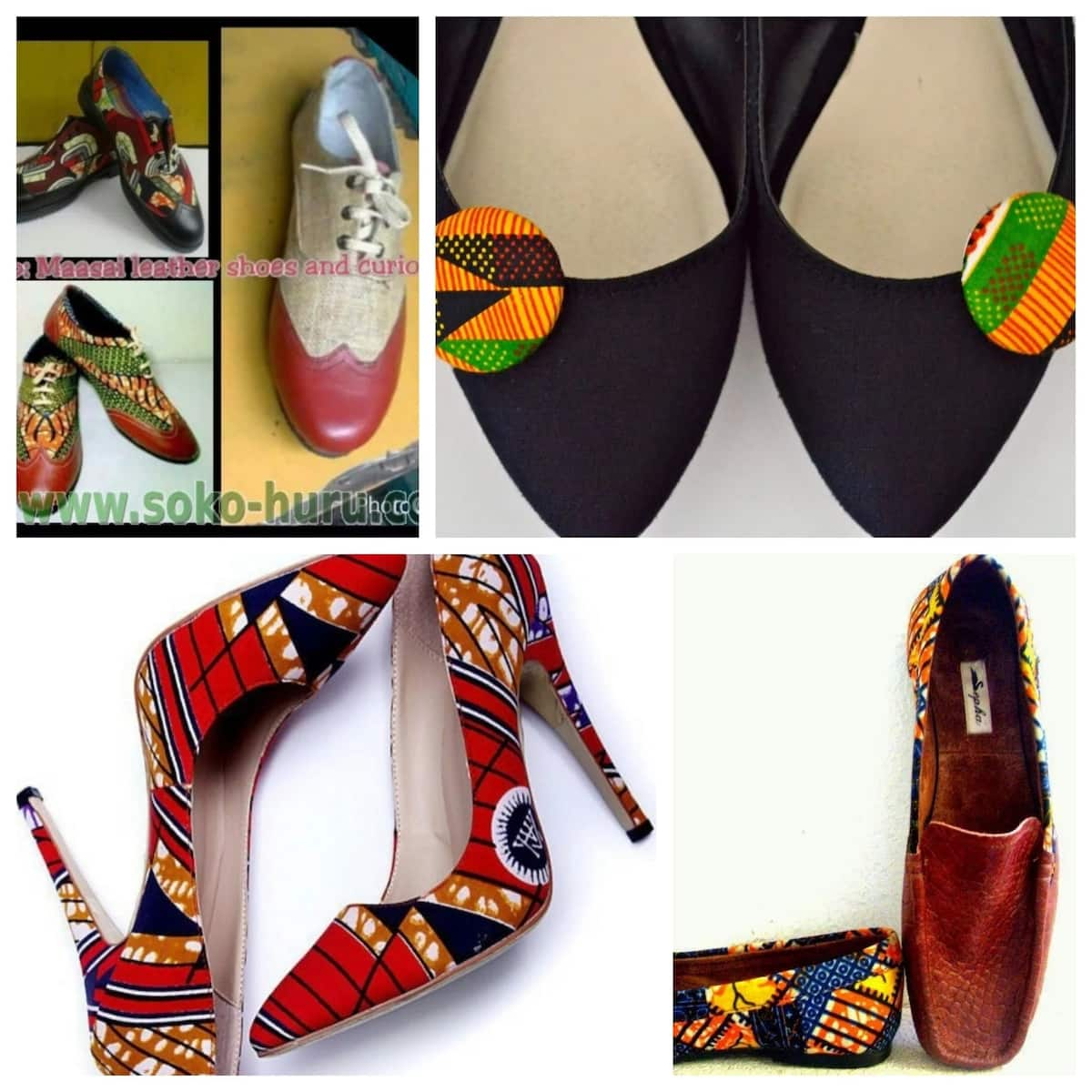 kitenge designs shoes