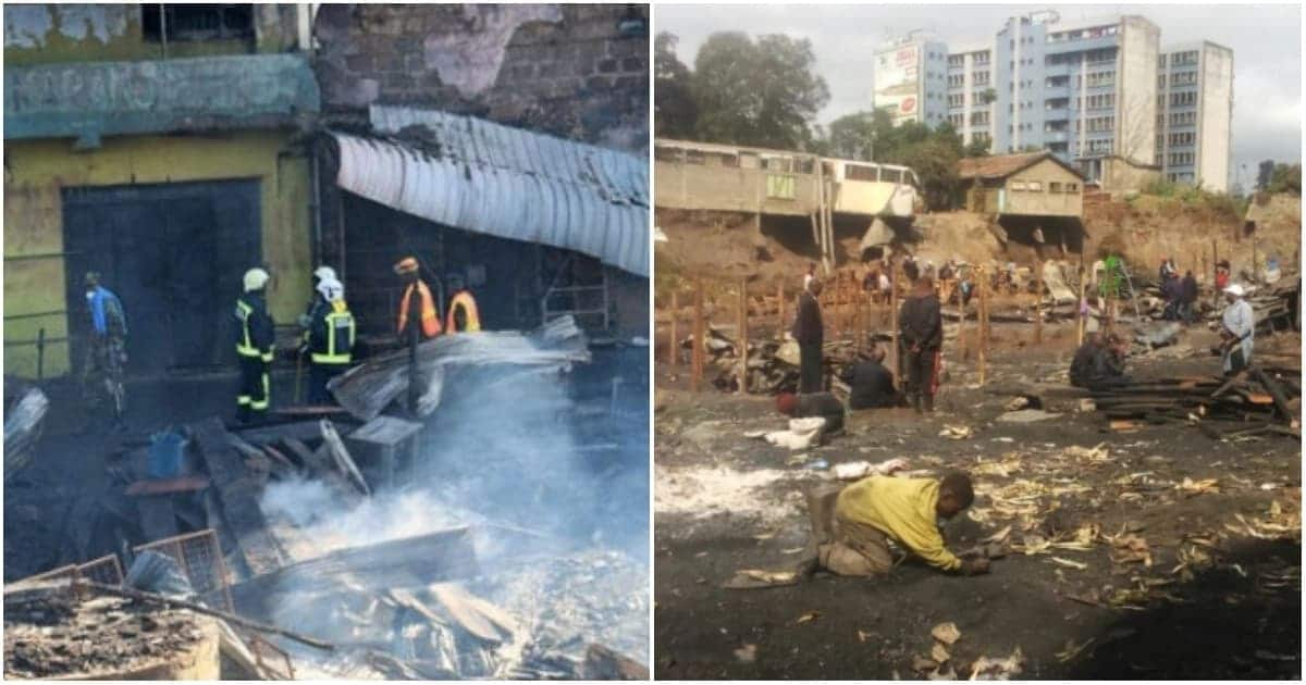 Stand-off as police cordon Gikomba to block traders from erecting new structure after inferno killed 16