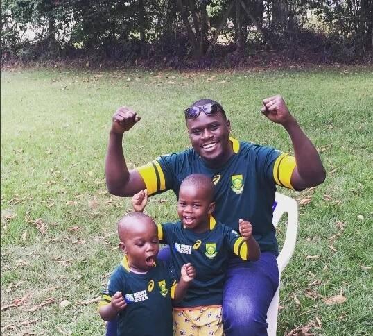 Adorable photos of Johnstone Sakaja having fun with his kids