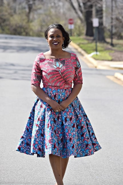 Modern African print dresses for graduation