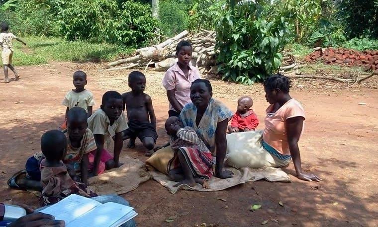 Magdanela Nangobi and her family. Photo: The Observer