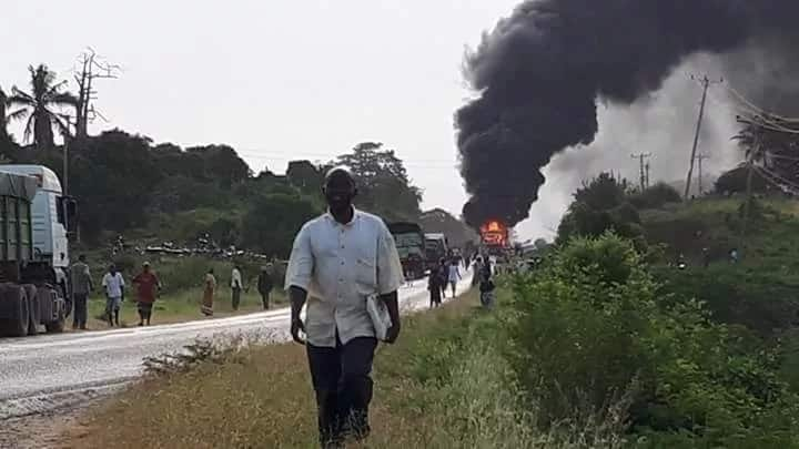 Malindi accident takes nasty turn as residents torch bus, details