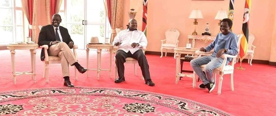 William Ruto's rarely seen son steals the show during meeting with Museveni in Uganda